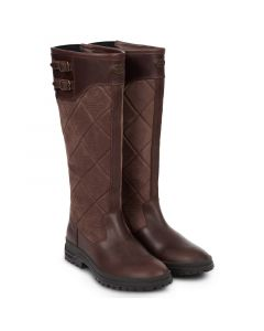 Le Chameau Jameson Quilted Leather Boot, Caramel