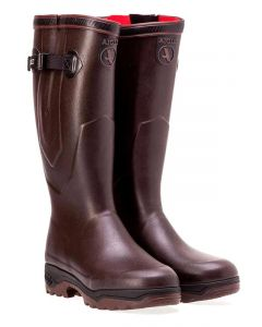 Aigle Parcours 2 ISO Neopene Lined Boots with Gusset, Brun