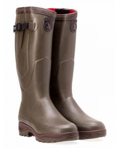 Aigle Parcours 2 ISO Neopene Lined Boots with Gusset, Kaki