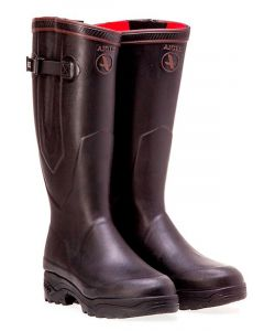Aigle Parcours 2 ISO Neopene Lined Boots with Gusset, Noir