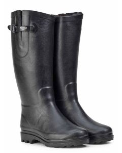 Aigle Aiglentine Fur Lined Women's Welly Boot, Noir V2