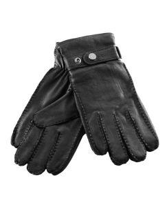 Aigle Men's Gilmore Luxury Leather Gloves, Black