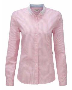 Women's Calisse Oxford Cotton Shirt, Petale Stripe