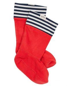 Aigle Sockywarm - Fleece ankle boot lining, red