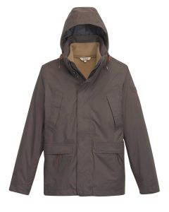 Aigle Men's Woodrow Waterproof Coat with Removable Fleece Jacket - 3 in 1 - Cacao