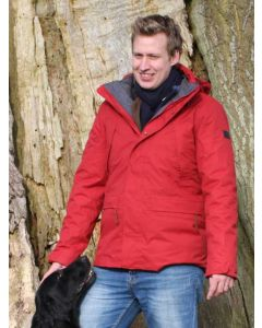 Aigle Men's Woodrow Waterproof Coat with Removable Fleece Jacket - 3 in 1 - Crimson