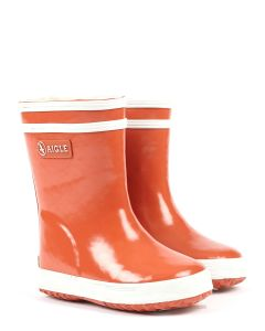 Aigle Kids Orange Baby Flac Fur - Baby welly boots with fur lining for the winter.