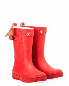 Aigle Woody Pop Children's Wellington Boot, Cerise
