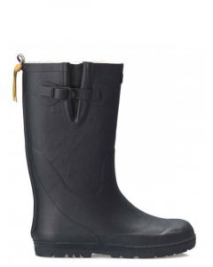 Aigle Woody Pop Fur Lined Welly Boot, Navy Blue