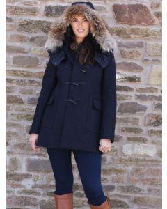 Aigle Duffleclan Women's Wool Duffle Coat, Dark Navy