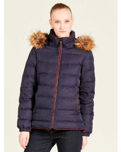 Aigle Rigdown Short Down Puffer Coat, Dark Navy