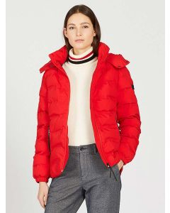 Aigle Rigdown New Short Length Down Puffer Jacket , Chilli Red