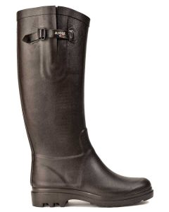 Aigle Women's Aiglentine Welly Boot, Brun