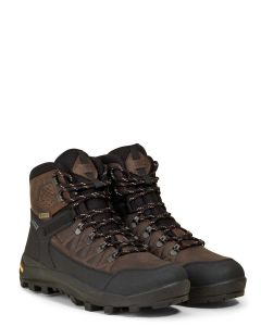 Aigle Men's Letrak GTX Leather Walking Boot, Dark Brown