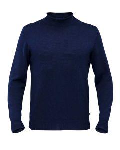 Alan Paine Fordwich Merino Wool Rolled Collar Sweater, Dark Navy
