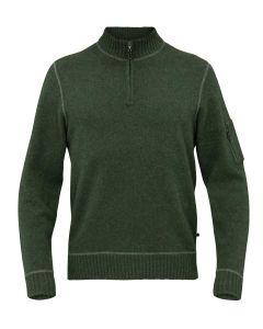 Alan Paine Men's Renwick Zip Sweater, Rosemary