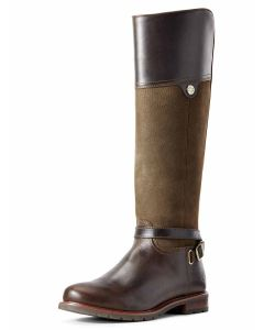 Ariat Carden Full Leather Boot, Chocolate and Willow