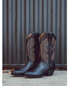 Aigle Womens Heritage R Toe Stretchfit Boot - Black Deertan - 10038431