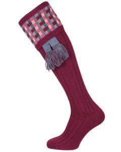 The Ashton Bilberry Shooting Sock with Garter