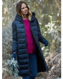 Joules Langholm A-Line Padded Coat, Navy