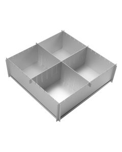"12"" x 4"" Silverwood Multisize Cake Tin with Dividers"