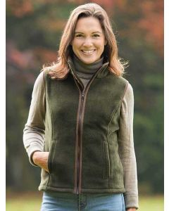 Khaki Green | Baleno Sally Fleece Waistcoat