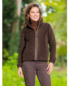 Women's Baleno Sarah Full Zip Fleece Jacket, Chocolate Brown