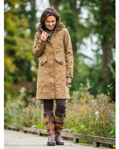 Baleno Women's Chelsea Knee Length Coat, Camel