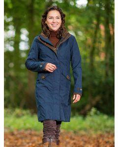 Baleno Women's Chelsea Knee Length Coat, Navy Blue