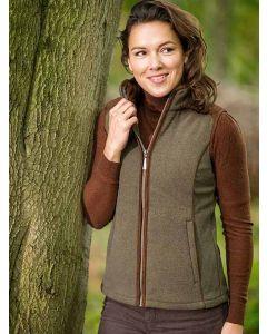 Baleno Kate Women's Fleece Gilet, Moss Green