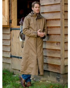 Baleno Men's Livingstone Full Length Stockman Style Coat, Camel