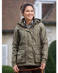 Baleno Pembroke Waterproof Lightweight Jacket - Khaki Tweed Check