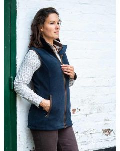 Baleno Women's Fairway Fleece Gilet, Navy Blue