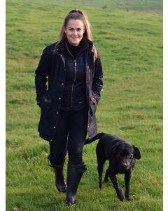 Baleno Ladies Darlington Waterproof & Breathable Tweed Jacket - Navy Tweed Check