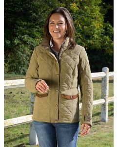 Women's Baleno Halifax Quilted Jacket, Light Khaki