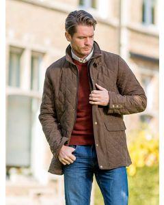 Men's Baleno Hatfield Quilted Jacket, Chocolate Brown