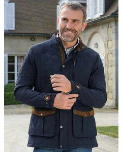 Baleno Goodwood Mens Quilted Jacket - Navy Blue - 918B