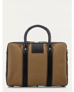 Baron Laptop/Notepad Tote Bag, Khaki Canvas 4054-02
