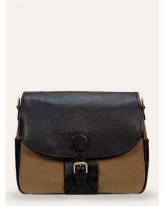 Baron Shoulder Bag, Khaki Canvas