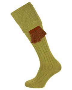 The Berrington 'Khaki' Cotton Cable Top Shooting Sock