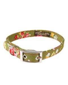 "BlossomCo Floral Pattern Dog Collar ""Olive"""