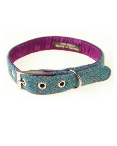 BlossomCo Harris Tweed Dog Collar, Scalpay