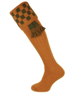 The Bowmore 'Ochre & Spruce' MK2 Cushion Foot Shooting Sock