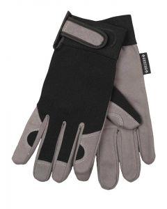 Briers Suede Smart Gardener Garden Gloves, Black