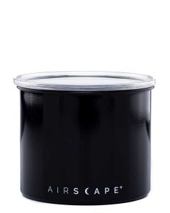 """Airscape Small 4"""" Food Storage Canister, Black"""