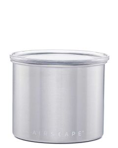 """Airscape Small 4"""" Food Storage Canister, Chrome"""