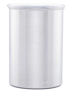 """The Original AirScape Food & Coffee 7"""" Storage Canister, Chrome"""