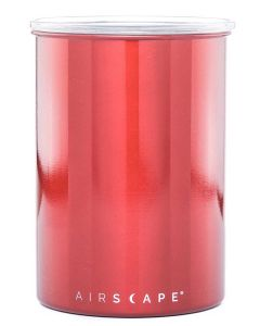 """The Original AirScape Food & Coffee 7"""" Storage Canister, Red"""