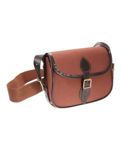 Fox, Canvas Cartridge Bag with Leather Detailing. Available in 75 or 100 Cartridge.