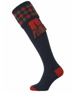 The Chequers Shooting Sock - Navy